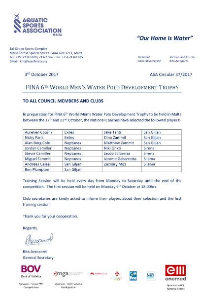 ASA Circular 37-2017 FINA World Men's Development Trophy-w800-h600